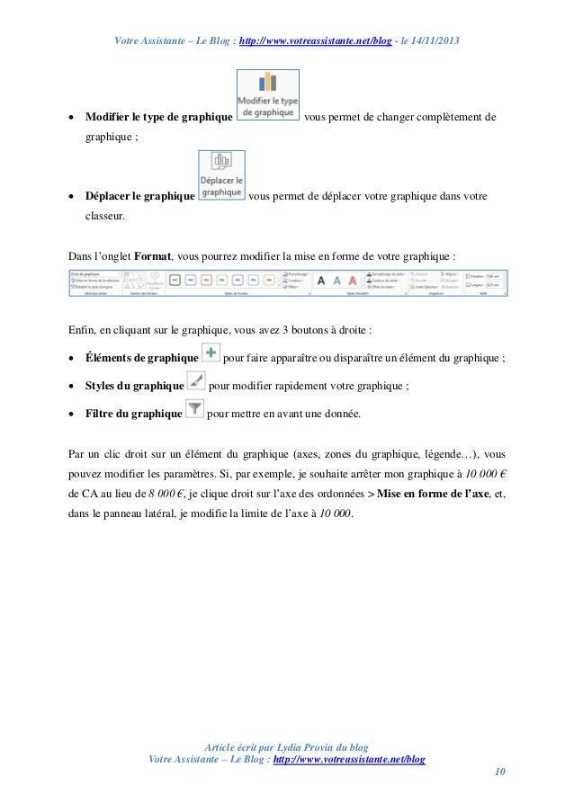 Votre Assistante – Le Blog : http://www.votreassistante.net/blog - le 14/11/2013    Modifier le type de graphique  vous p...