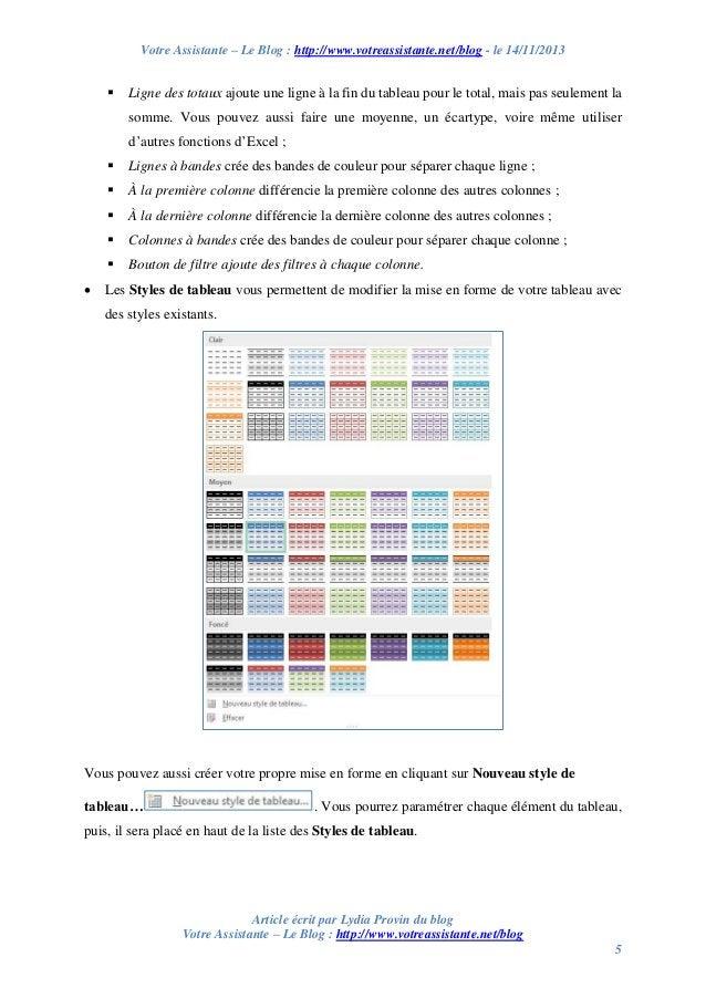 Votre Assistante – Le Blog : http://www.votreassistante.net/blog - le 14/11/2013    Ligne des totaux ajoute une ligne à l...