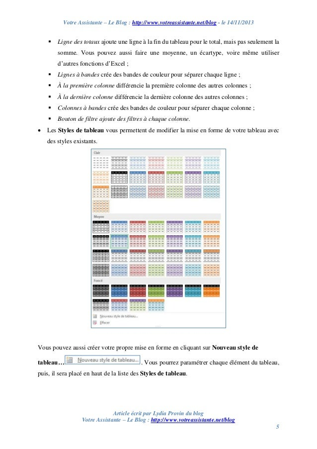 Créer un tableau et un graphique sur Excel 2013