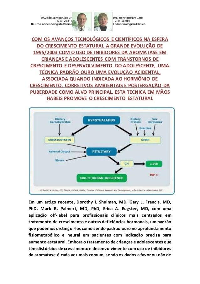 COM OS AVANÇOS TECNOLÓGICOS E CIENTÍFICOS NA ESFERA DO CRESCIMENTO ESTATURAL A GRANDE EVOLUÇÃO DE 1995/2003 COM O USO DE I...