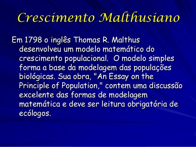 thomas r malthus an essay on the principle of population