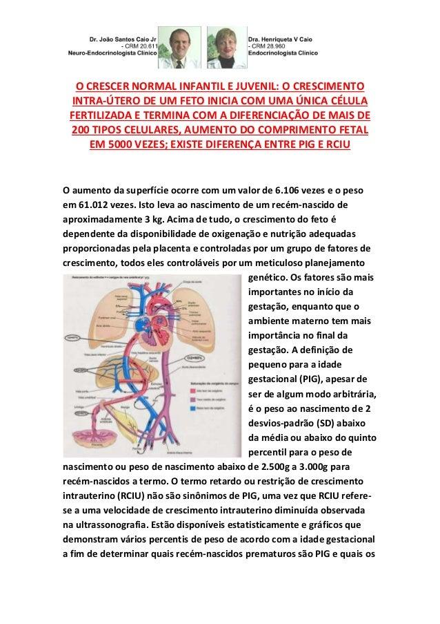 O CRESCER NORMAL INFANTIL E JUVENIL: O CRESCIMENTO INTRA-ÚTERO DE UM FETO INICIA COM UMA ÚNICA CÉLULA FERTILIZADA E TERMIN...