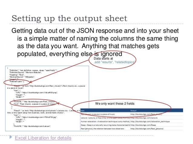 Getting REST API JSON data into Excel