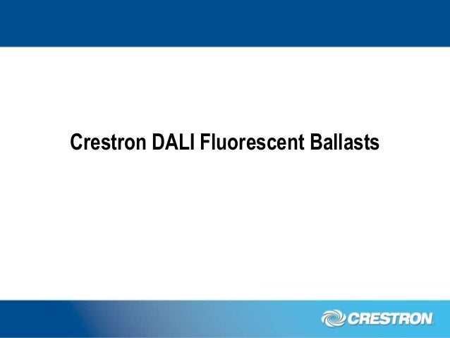 Pleasing The Crestron Dali Ballast Solution Wiring 101 Capemaxxcnl