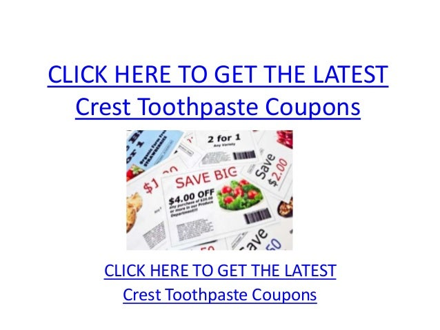 image relating to Crest Coupons Printable titled Crest Toothpaste Discount codes - Printable Crest Toothpaste Discount coupons
