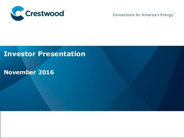 Crestwood Equity Partners Investor Presentation for 2016 RBC