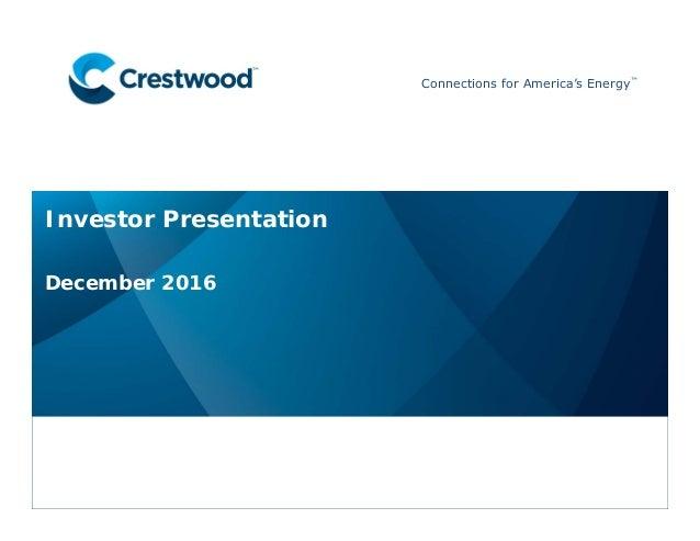 Crestwood Investor Presentation Dec 2016