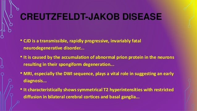 creutzfeldt jakob disease essay Tses include alzheimer's disease, creutzfeldt-jakob disease, huntington's disease, and parkinson's disease tses also include mad cow disease and chronic wasting disease in deer few, if any, mammals are immune.