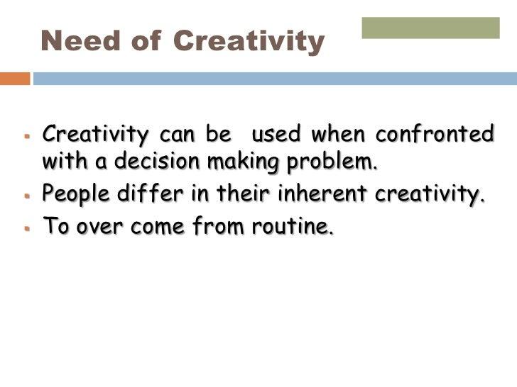 Crevativty & innovation ppt  mba Slide 3
