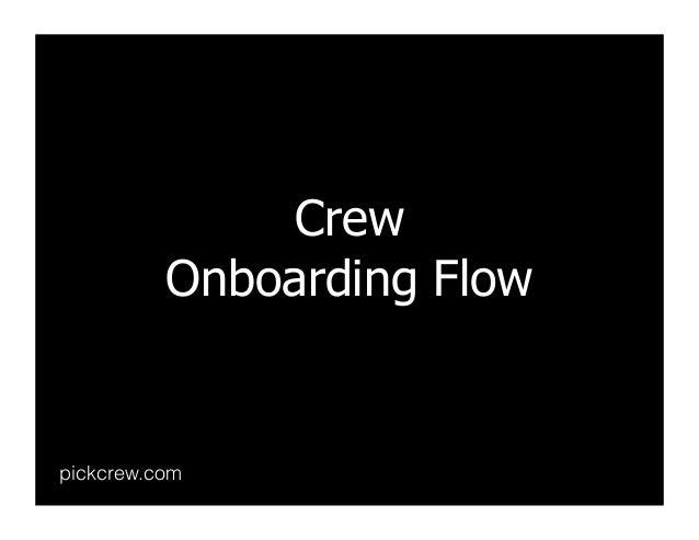Crew Onboarding Flow pickcrew.com
