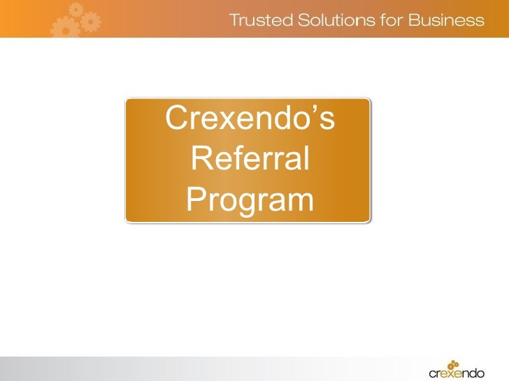 Crexendo's Referral Program