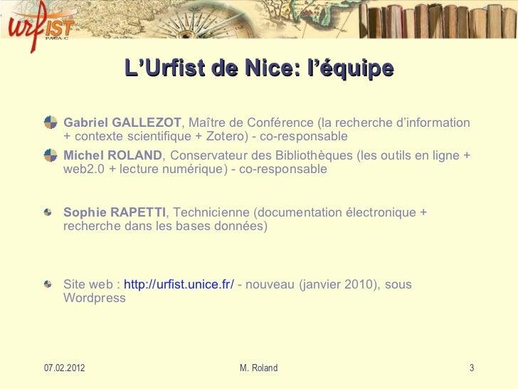 Présentation de l'Urfist Slide 3