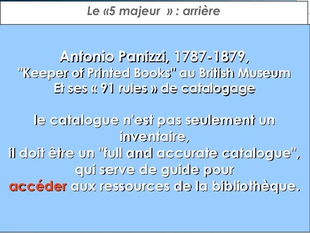 Le «5 majeur»: ailier  Charles Ammi Cutter, 1837-1903, bibliothécaire américain À l'origine de la LCC  «Les objectifs ...
