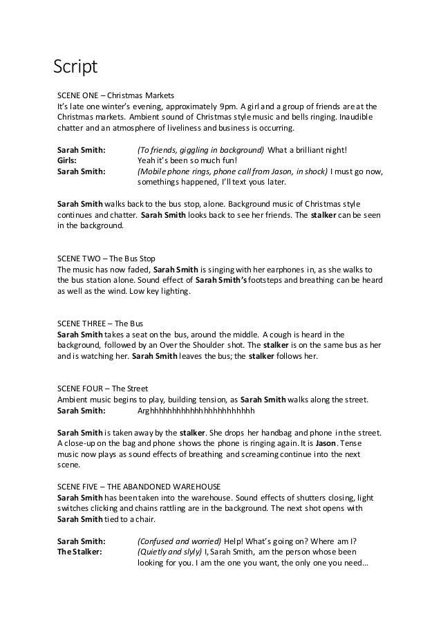 how to write a scene script