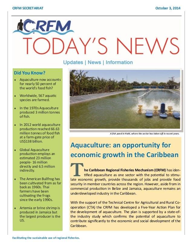 CRFM Aquaculture Newsletter - Envi Sci Unit2