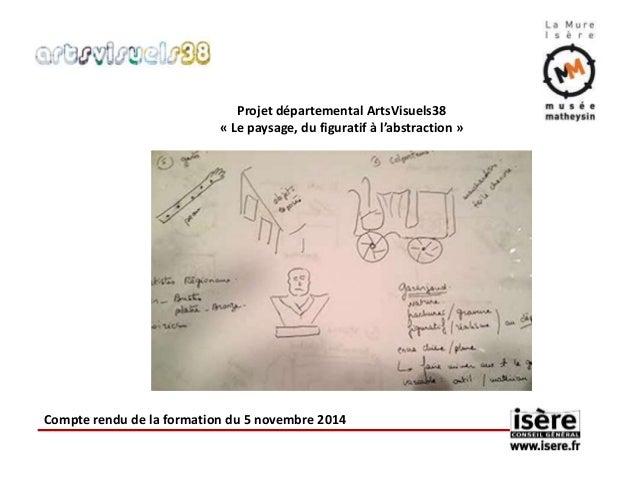 Projet départemental ArtsVisuels38  « Le paysage, du figuratif à l'abstraction »  Compte rendu de la formation du 5 novemb...