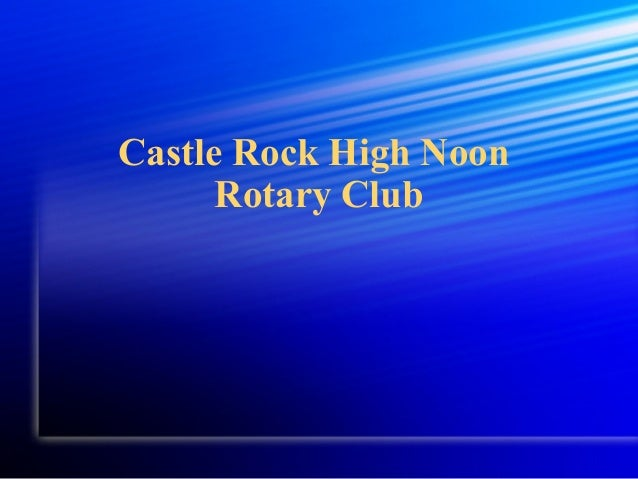 Castle Rock High Noon Rotary Club