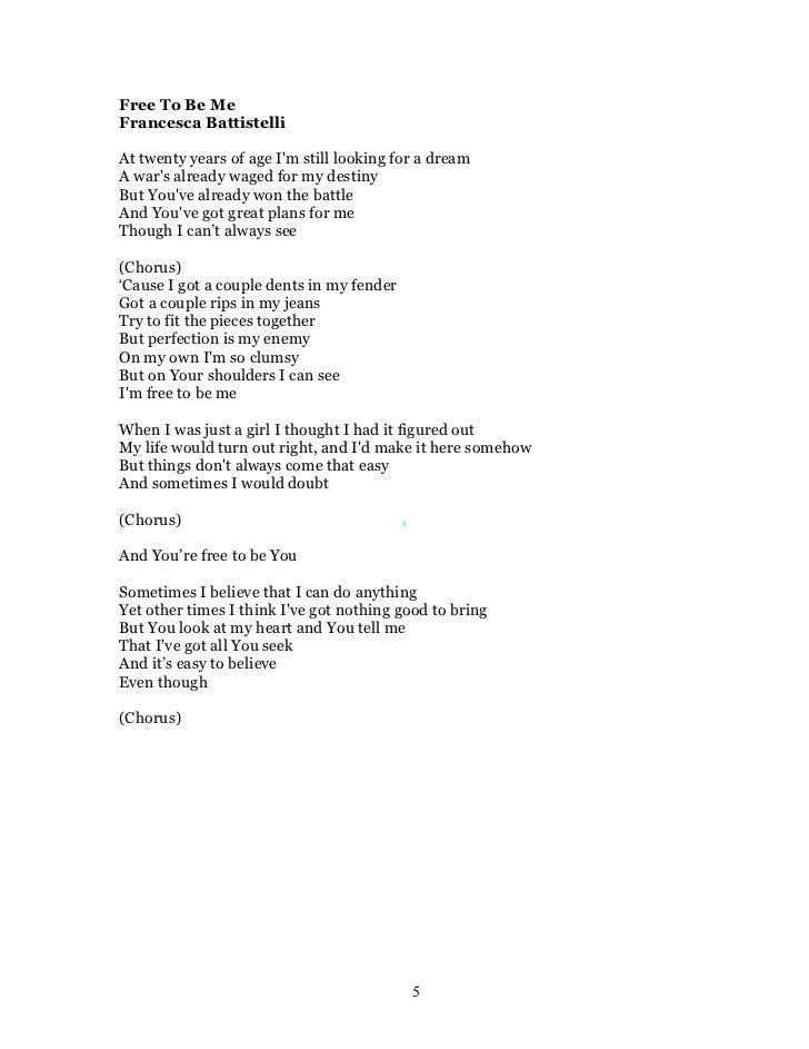 Crhp 5 2010 Lyrics