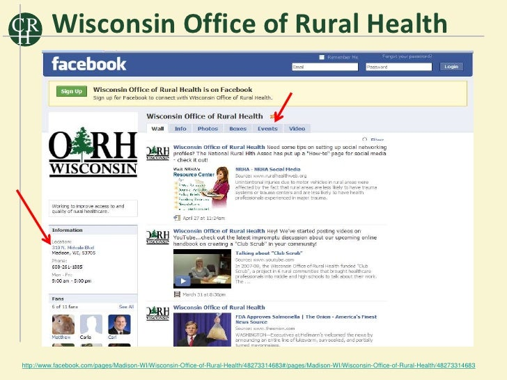CR H          Wisconsin Office of Rural Health     http://www.facebook.com/pages/Madison-WI/Wisconsin-Office-of-Rural-Heal...