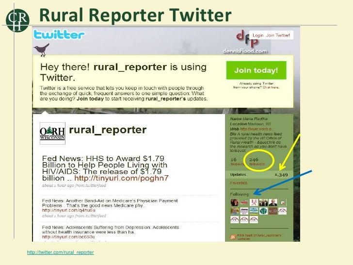 CR H       Rural Reporter Twitter      http://twitter.com/rural_reporter