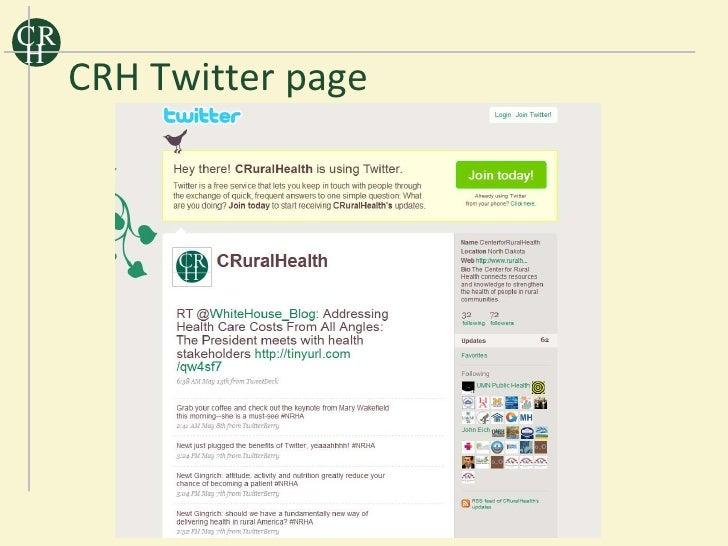 CR H      CRH Twitter page