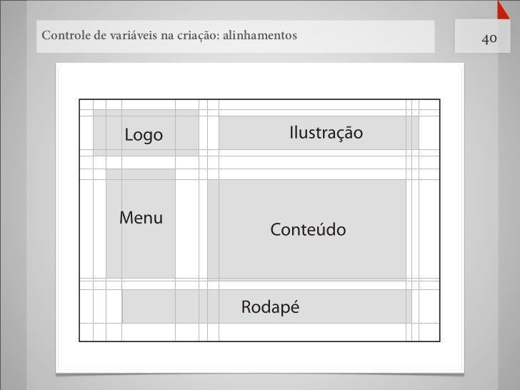 Controle de variáveis na criação: alinhamentos   40