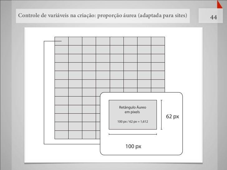 Controle de variáveis na criação: proporção áurea (adaptada para sites)   44