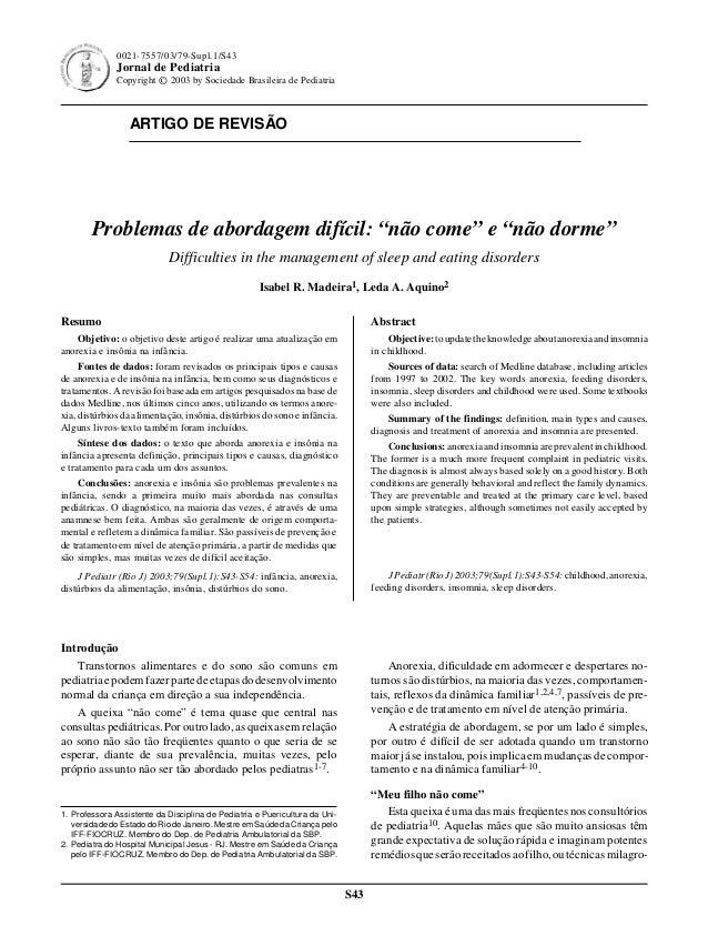 Jornal de Pediatria - Vol.79, Supl.1 , 2003 S43 ARTIGO DE REVISÃO S43 0021-7557/03/79-Supl.1/S43 Jornal de Pediatria Copyr...