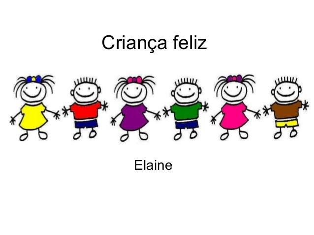 Criança feliz Elaine