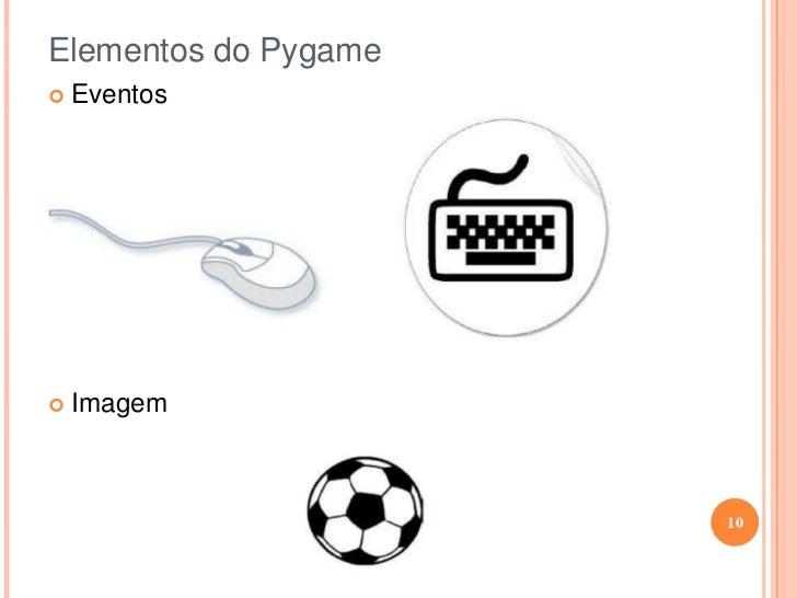 Elementos do Pygame<br /><ul><li>Eventos