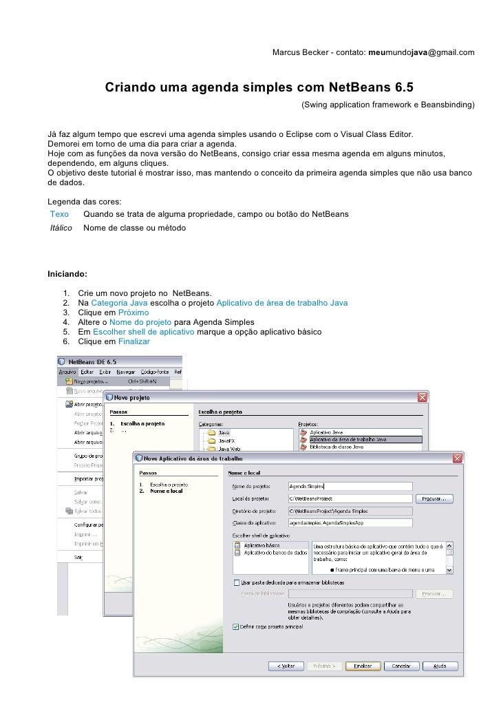 Criando uma agenda simples com NetBeans