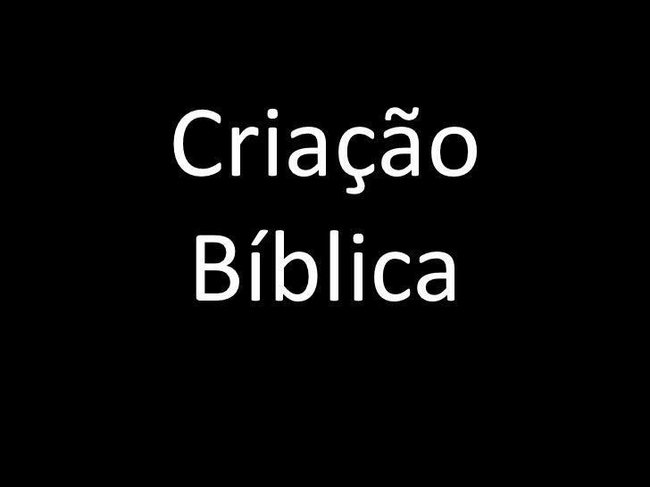 Criação Bíblica<br />