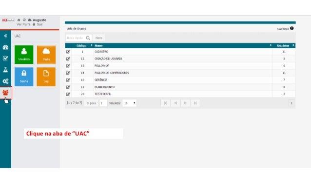 """Clique na aba de """"UAC"""""""