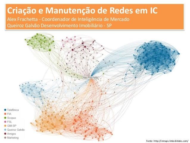 Criação e Manutenção de Redes em ICAlex Frachetta - Coordenador de Inteligência de MercadoQueiroz Galvão Desenvolvimento I...