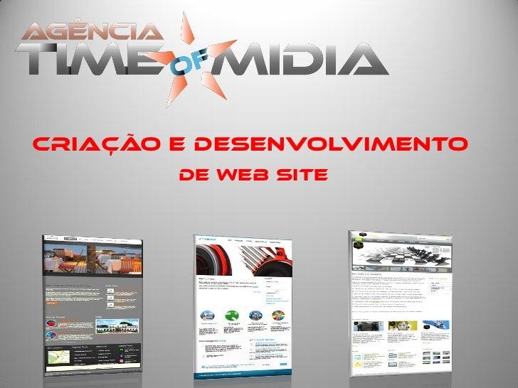 Criação e desenvolvimento        de Web Site