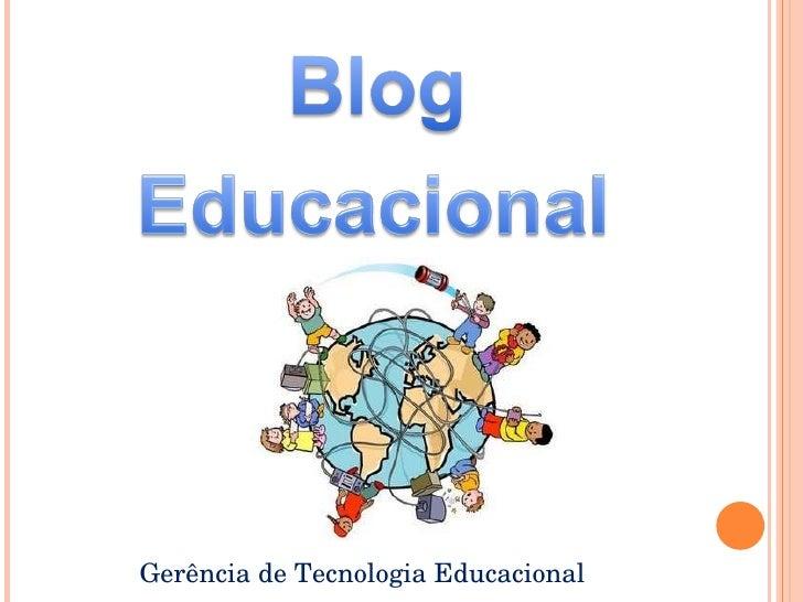 Gerência de Tecnologia Educacional