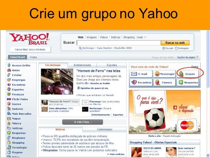 Crie um grupo no Yahoo