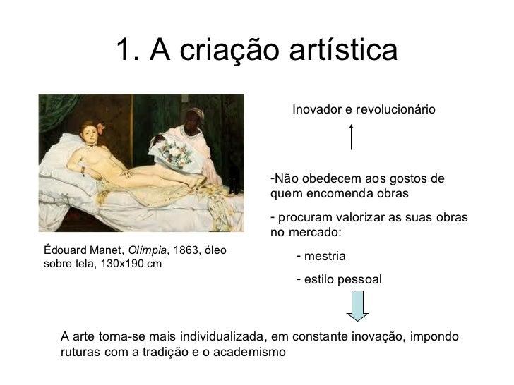 1. A criação artística                                          Inovador e revolucionário                                 ...