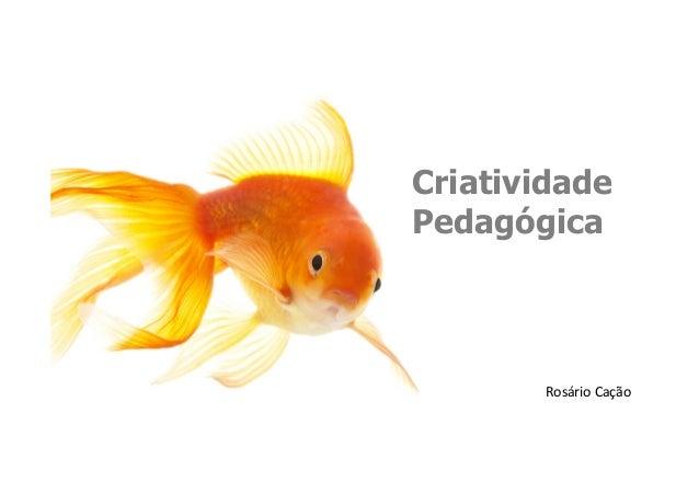 Criatividade Pedagógica Rosário  Cação