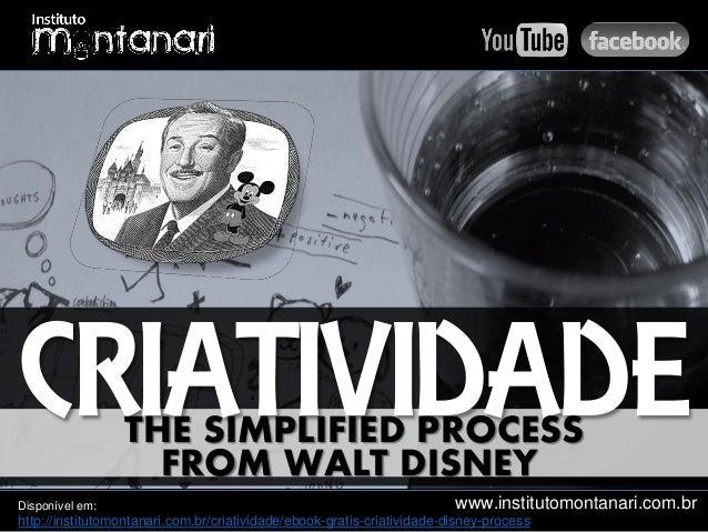 www.institutomontanari.com.br CRIATIVIDADETHE SIMPLIFIED PROCESS FROM WALT DISNEY Disponível em: http://institutomontanari...