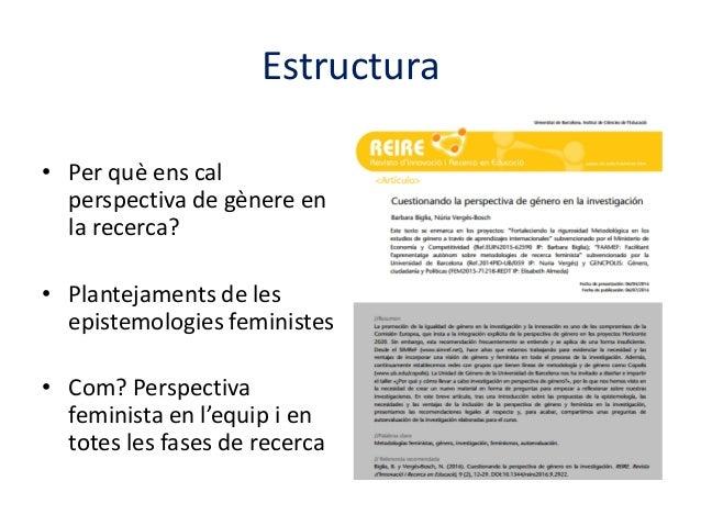 Seminari CRICC: La perspectiva de gènere a la recerca Slide 3