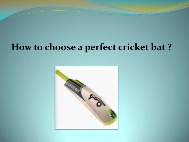 How to choose a perfect cricket bat ?