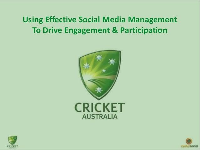 Using Effective Social Media Management To Drive Engagement & Participation