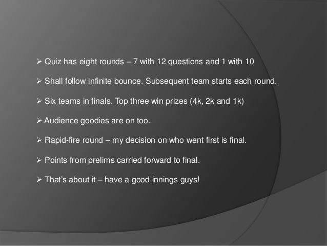 Cricket Quiz Finals At ISB