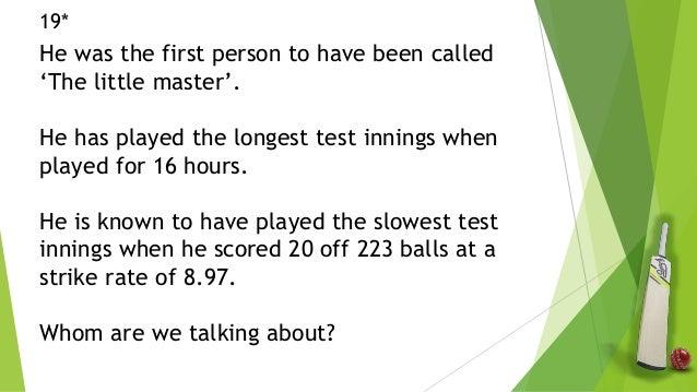 Cricket quiz prelims