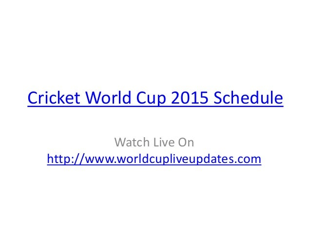 Icc Cricket Worldcup 2015 Full Schedule Time Table Teams Players