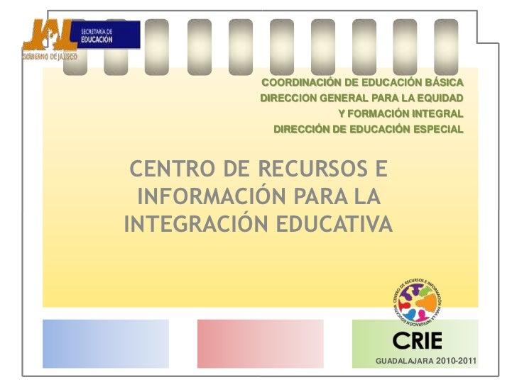 COORDINACIÓN DE EDUCACIÓN BÁSICA<br />DIRECCION GENERAL PARA LA EQUIDAD <br />Y FORMACIÓN INTEGRAL<br />DIRECCIÓN DE ED...