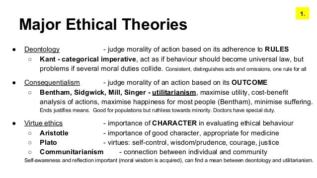 comparison between utilitarianism and deontology Consequentialism, deontology, and virtue ethics are moral theories that evaluate morality on the basis of different factors this buzzle post explains the consequentialism vs deontology vs virtue ethics comparison.