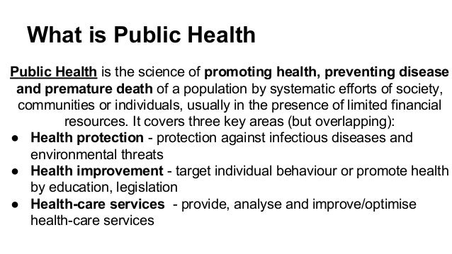 public health outline American public health association (apha) states that public health is the  practice of preventing disease and chapter outline definitions in public  health.