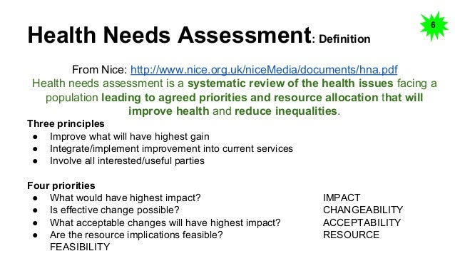Health Needs Assessment Essay The Purpose Of This Assignment Is To